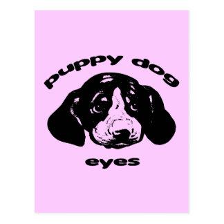 Ojos del perro de perrito tarjeta postal