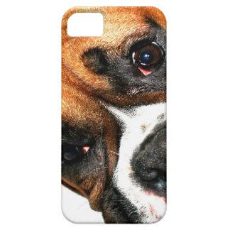 Ojos del perro del boxeador funda para iPhone SE/5/5s