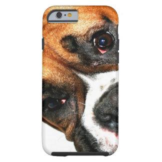 Ojos del perro del boxeador funda resistente iPhone 6