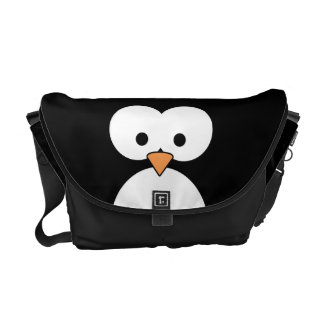 Ojos del pingüino bolsa de mensajeria