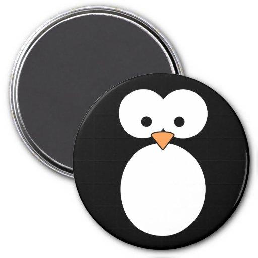 Ojos del pingüino imán redondo 7 cm