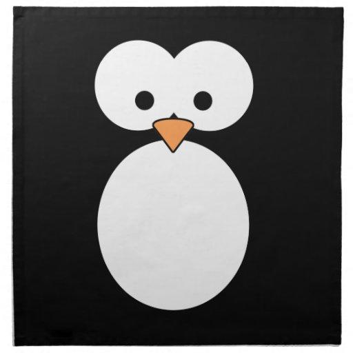 Ojos del pingüino servilletas imprimidas