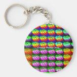 Ojos del pixel del arco iris llaveros personalizados