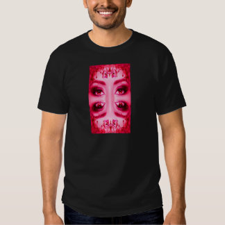 Ojos del rojo camisas