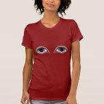 Ojos del rojo - camiseta divertida de las señoras