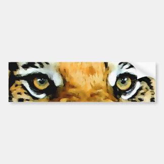 Ojos del tigre etiqueta de parachoque