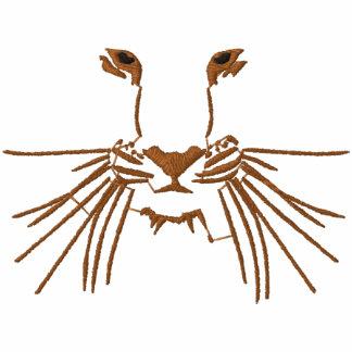 Ojos del tigre sudadera bordada con capucha