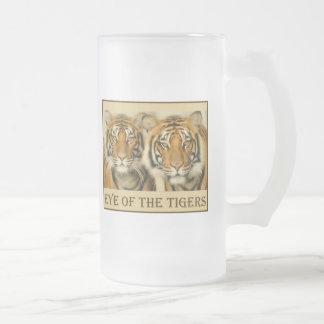 Ojos del tigre jarra de cerveza esmerilada