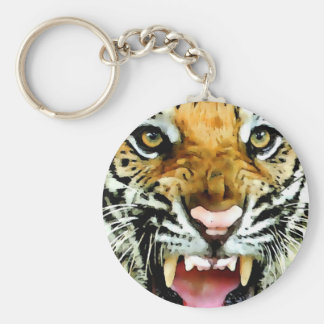 Ojos del tigre llavero redondo tipo pin