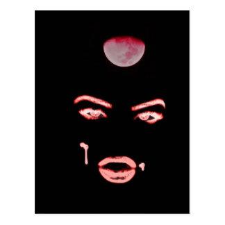 ojos del vampiro tarjeta postal