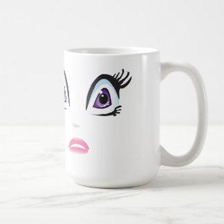 Ojos del vector taza básica blanca
