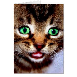 Ojos del verde… tarjeta de felicitación