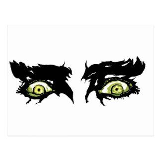 OJOS del ZOMBI - ojos pícaros asustadizos Tarjeta Postal