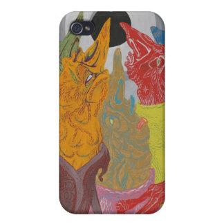 Ojos en el caso premiado del iPhone 4 de Howell iPhone 4/4S Carcasas