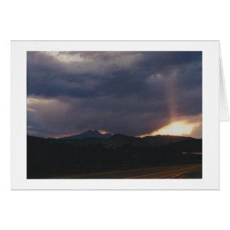 Ojos en el cielo sobre Boulder Tarjeta Pequeña