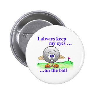 Ojos en la bola pin redondo de 2 pulgadas