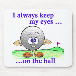 Ojos en la bola tapete de ratones