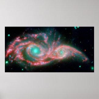Ojos en la galaxia del cielo póster
