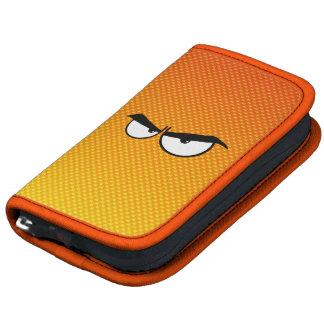 Ojos enojados amarillo-naranja planificador