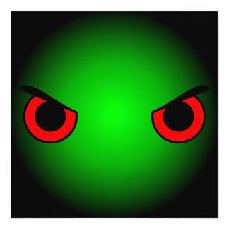"""Ojos enojados invitación 5.25"""" x 5.25"""""""
