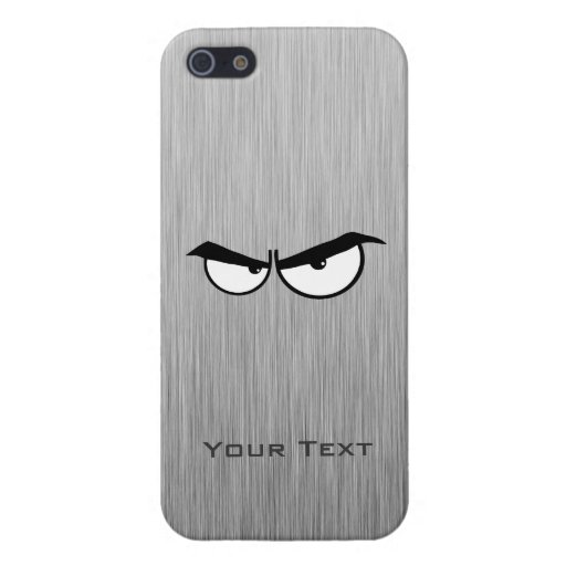 Ojos enojados; Metal-mirada iPhone 5 Carcasas