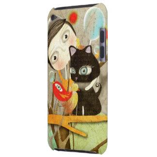ojos enormes del gato del pájaro del caso del tact Case-Mate iPod touch coberturas