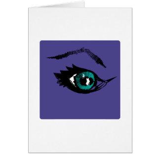 Ojos estrellados tarjetón