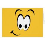 Ojos felices y sonrisa tarjetas