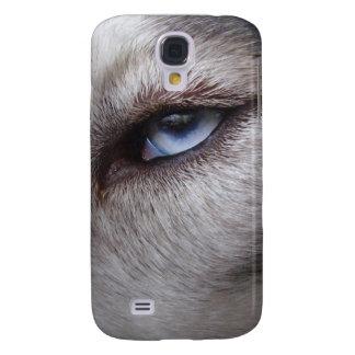 Ojos fornidos del perro esquimal 3 I Funda Para Samsung Galaxy S4