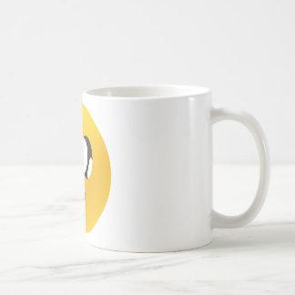 ojos googly sonrientes taza básica blanca