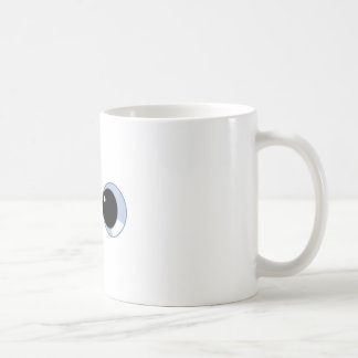 ojos googly taza básica blanca
