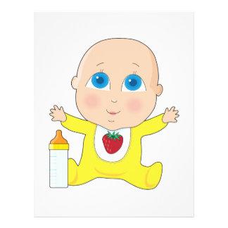 """Ojos grandes del bebé folleto 8.5"""" x 11"""""""