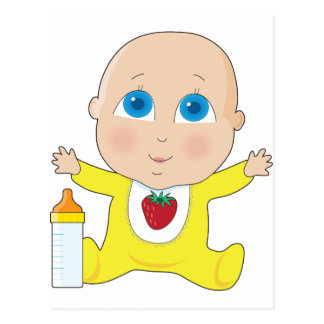 Ojos grandes del bebé tarjetas postales