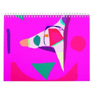 Ojos hermosos de las mejillas del rasgón de la calendario