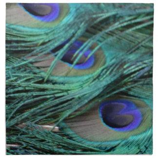 ojos intrépidos del peafowl servilletas de papel