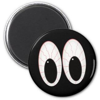 Ojos inyectados en sangre de Halloween de los glob Imán Redondo 5 Cm
