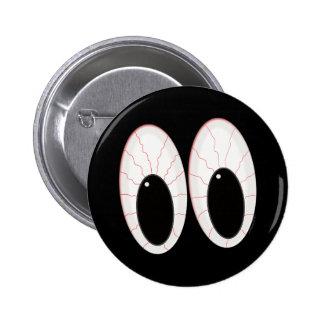 Ojos inyectados en sangre de Halloween de los glob Pin Redondo De 2 Pulgadas
