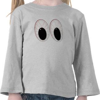 Ojos inyectados en sangre de Halloween de los glob Camiseta