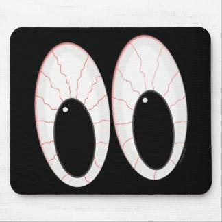 Ojos inyectados en sangre de Halloween de los glob Alfombrilla De Raton