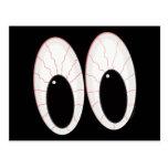 Ojos inyectados en sangre de Halloween de los glob Postales