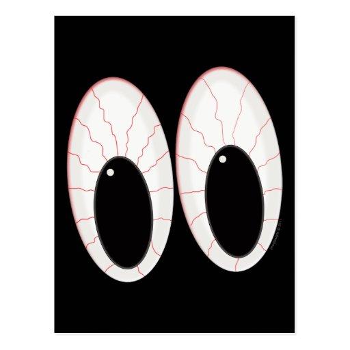 Ojos inyectados en sangre de Halloween de los glob Postal