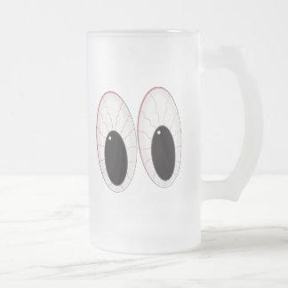 Ojos inyectados en sangre de Halloween de los glob Tazas De Café