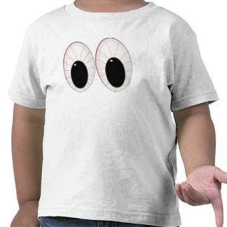 Ojos inyectados en sangre de Halloween de los Camisetas