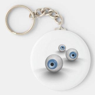 Ojos Llavero Redondo Tipo Pin