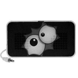 Ojos locos del dibujo animado portátil altavoces