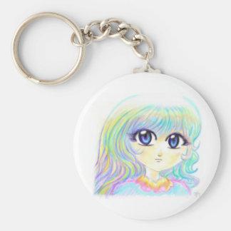 Ojos mágicos del chica de Manga del arco iris colo Llavero