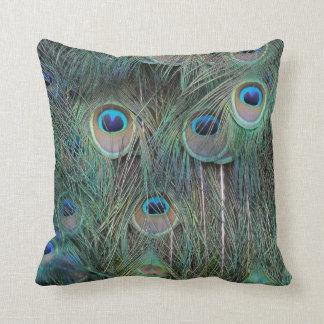 Ojos magníficos de la pluma del Peafowl Almohada