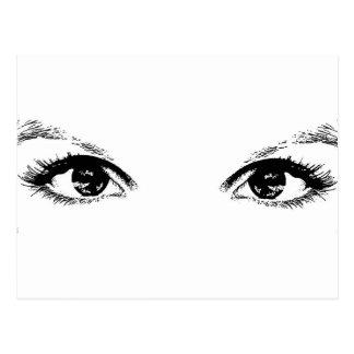 ojos morados tarjeta postal