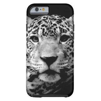 Ojos negros y blancos de Jaguar Funda De iPhone 6 Tough