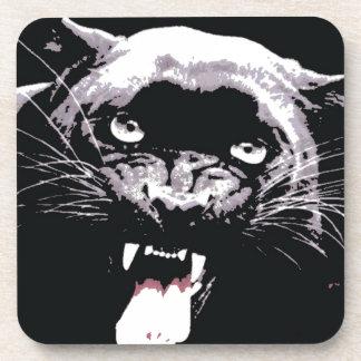 Ojos negros y blancos de Jaguar Posavasos